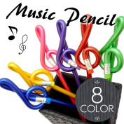 Miscellaneous goods music pen-021 which the stationery that a pencil note pattern G clef is interesting has a cute