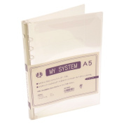 A5 size 6 hole Mai system binder (system notebook binder) HS58940 s clear