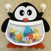 Pip The Penguin Bath Toy Organiser With Large Capacity Mesh Storage Net And T...