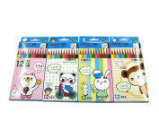 Coloured Pencil Set For Drawing Colouring Pages - Great Art School Supplies For Kids & Adults Colouring Books - 12 Colours