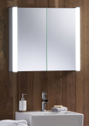Led Illuminated Bathroom Mirror Cabinet 60x65 Demister, Shaver & Sensor C12-2ae