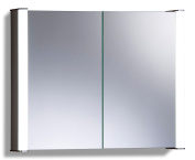 Led Illuminated Bathroom Mirror Cabinet Demister Shaver & Sensor 65x80x13cm C13