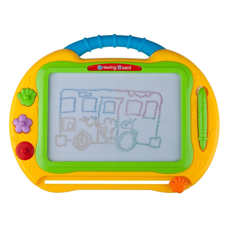 Ikidsislands Large Size Colour Magnetic Drawing Board Magna Doodle Sketch Pad Imaginarium Toy Set For Kids Toddlers Babies Adults Boys