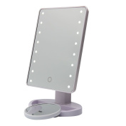 Milkiray 16 Led Touch Screen Makeup Mirror Lighted Make-up Cosmetic Mirror 180