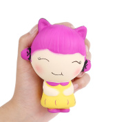 Aolige Squishy Kids Birthday Party Cute Little Girl Decoration Props, Finger Exercise Autism Children Toy and Adult Stress Reducer and Anxiety Relief Toys