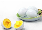 Boddenly 6pc Mixed Geometry Shape Splicing Assembly Pretend Puzzle Smart Eggs Baby Kid Learning Toy