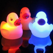 Pack of 5 Light-Up Rubber Duckies - Illuminating Colour Changing Rubber Ducks by Electronix Express