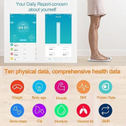 Digital Bluetooth Body Weight Bathroom Scale, Wireless Body Fat Scale with IOS and Android App, DIKI Ultra Accurate, Step on Technology For Body Weight, Body Fat, Water, Muscle Mass, BMI, BMR, Bone Mass and Visceral Fat