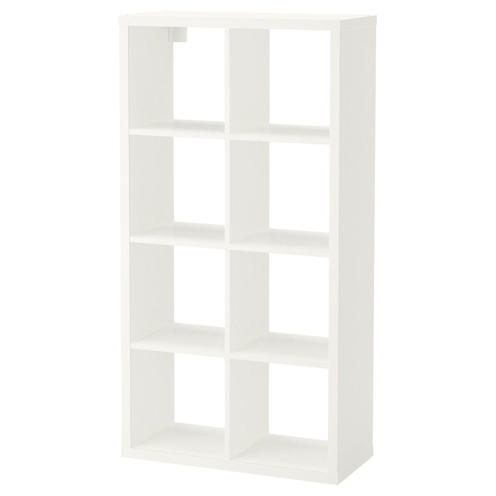 Ikea Flysta Shelving Unit White 8 Cube Storage Bookcase Rectangle by