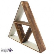 Large Triangular Shelf Shelving Wooden Boho Minimalist Interiors Display Shop