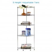 Lifewit Corner Shelf 5 Tiers Adjustable Metal Storage Wire Shelving Unit Corner