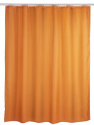 Beautiful Orange Extra Long And Extra Wide Shower Curtain 100% Polyester - Rings