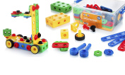 Building Blocks 100 Set - Building Toys Gift for Boys & Girls - STEM Educational Fun Toy Set, Ages . and Up - Original - By Play22