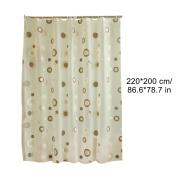 Cadillaps Shower Curtain Waterproof Mildew Resistant Bathroom Curtain With 12 X