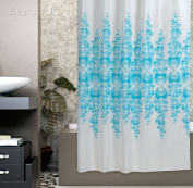 Beautiful Fabric Shower Curtain 180cm Wide By 180cm Long, Rings Included Bubbles