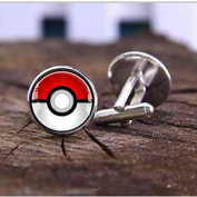 Pokemon Go Plus Silver Plated CuffLinks Anime Fashion Jewellery Cosplay Charm Geek Wedding