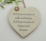 New Home Gift Heart A house is built of walls and beams keepsake