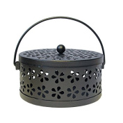 SwirlColor Classical Design Portable Metal Mosquito Coil Holder Incense Holder