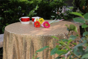 YZEO Gold 180cm Sequin Tablecloth Home Wedding Event Party Banquet Decoration