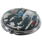"""L. S. Lowry Licenced Compact Make Up Mirror - """"A Fight"""" Artwork - Official Lady's Gift Idea"""