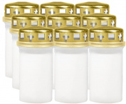9 X Grave / Memorial Candle - WHITE