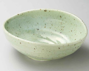 Mashiko Kinyo 24cm Large Bowl Green porcelain Made in Japan
