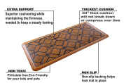 Urvigor Anti Fatigue Comfort Mats Kitchen Floor Mats Standing Mat for Standup Desks, Kitchens, and Garages , Antique Light Flower Pattern