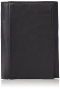 Buxton Men's Leather RFID ID Trifold Travel Wallet