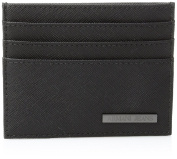 Armani Jeans Men's Plate Card Holder Black
