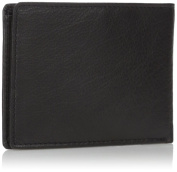 Buxton Men's Leather RFID Front Pocket Bifold Travel Wallet