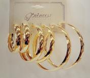 Sterling Gold Hoop Earring Set of 3