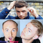 Rossy & Nancy Skin Men's Hair Toupee Undetectable Hairline Human Hair Pieces French Lace Hair Replacement #21 Blonde Colour for Man Wig