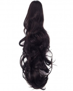 Long Curly Ponytail Hair Extensions Claw Clip in 60cm Ponytail Hairpiece Weave Pony Tail Synthetic Hair