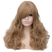 Max Beauty Wig New Nature Flaxen Wig Hair Long Curly Wig Body Wave Wig Cosplay Wig Heat Resistant Synthetic Fibre Wig 60CM Length Wigs Free Cap 37 Colour