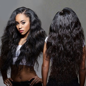 BEIRA Hair 130 Density Brazilian Virgin Hair Full Lace Human Hair Wigs For Black Women Pre Plucked Brazilian Body Wave Bleached Knots Lace Front Human Hair Wigs Natural Colour