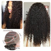 Sunriselacewigs 360 Lace Frontal Wigs 180% Denisty Lace Front Human Hair Wigs for Black Women Curly Brazilian Virgin Hair Pre Plucked 360 Lace Wigs with Baby Hair