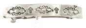 Native-Bay Retail Tag Cross Authentic Handmade Made by Charlene Little Nickel Navajo Native American Hair Barrette