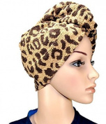 1 x Haarpunzel Turban Hair drying cloth Hand towel Scarf - Leopard by Medi-Inn
