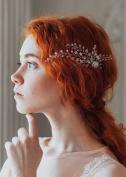 Missgrace Women Bridal Crystal Rhinestone Wedding Flower Hair Pins Clip Women Hair Jewellery