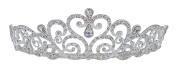 eJools Rhinestone Princess Tiara with Combs Wedding Bridal Tiara Headband