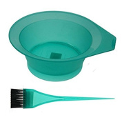 Professional Salon Hair Tinting Bowl & Brush - Frosted Green by Comby