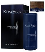 KeraFiber Hair Building Fibres, Medium Brown 28 g by KeraFiber Hair Building Fibres (28G) - Medium Brown