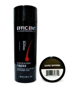 EFFICIENT Keratin Hair Building Fibres, Hair Loss Concealer Net Wt. 28gm / 30ml (Medium Brown) by EFFICIENT