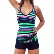 LUNIWEI Women Printed Swimsuit Beachwear Swimwear Tankini