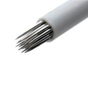 Round Shading 18 Pin 50Pcs Diposable Nanoshading Needles for Manual Pernmanent Make-up - QMYBrow