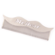 Mr Bear Family Stainless Steel Moustache Comb