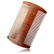 RIJAL Beard Comb - Black Gold Sandalwood - Natural Aromatic Scent & Anti-Static w/ Dual Sides Fine & Coarse Teeth
