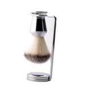CSB Chrome Handle Synthetic Hair Shaving Brush Set for Men's Grooming Shaving
