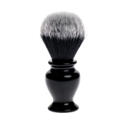 Fendrihan Black and White Synthetic Shaving Brush with Resin Handle for Personal and Professional Shaving