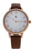 Charlotte Raffaelli Crb003 La Basic - Rose Gold/brown Leather Strap Watch Watch For Women 1 Pc